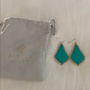 Kendra Scott Turquoise and Gold Earrings